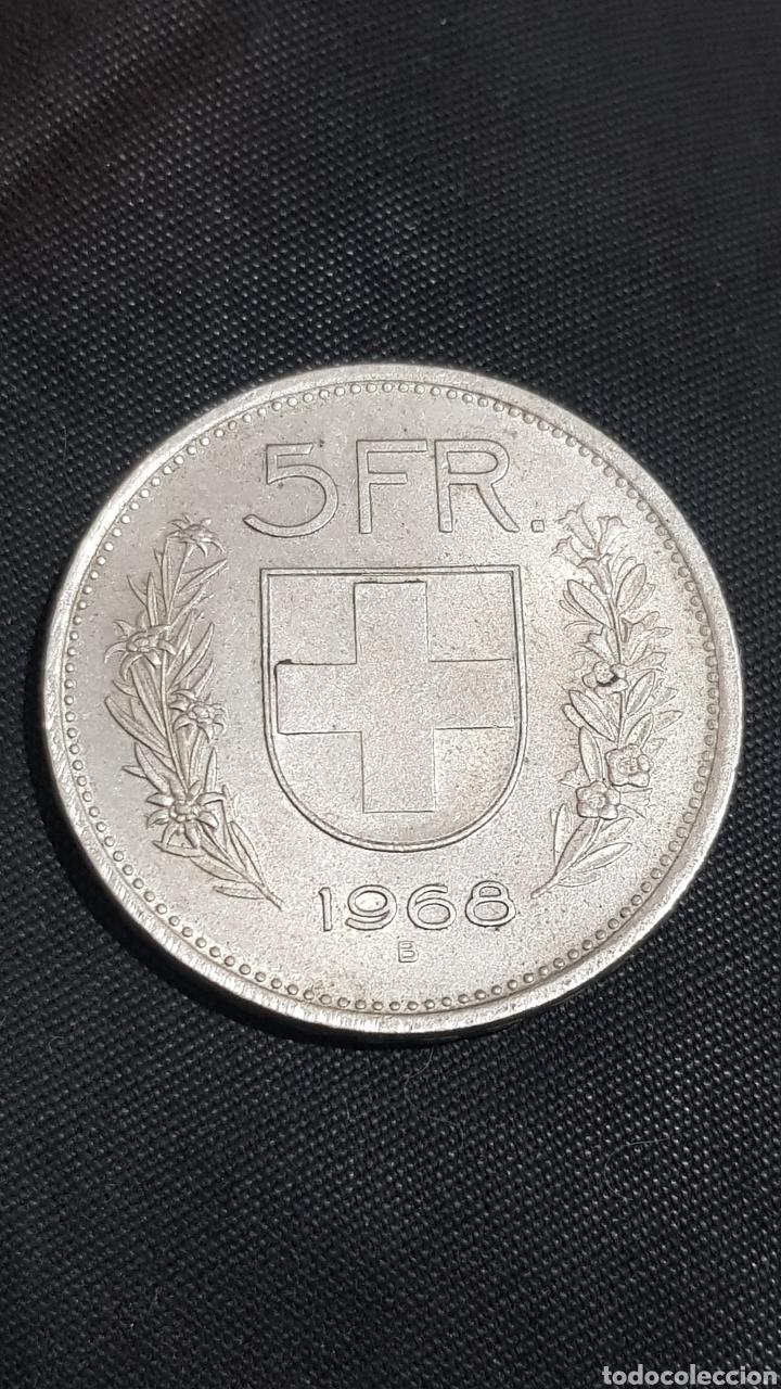 5 FRANCOS SUIZA 1968 (Numismática - Extranjeras - Europa)