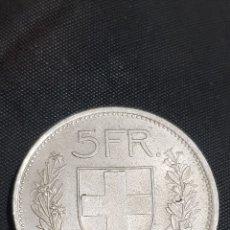 Monedas antiguas de Europa: 5 FRANCOS SUIZA 1968. Lote 227564650