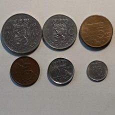 Monedas antiguas de Europa: 6 MONEDAS PAISES BAJOS. DISTINTOS VALORES FACIALES Y EPOCAS (SE VE AÑO EN FOTOS). Lote 227712025