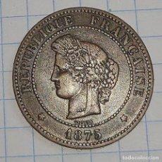 Monedas antiguas de Europa: FRANCIA. 5 CENTIMES 1875 A.. Lote 228246546
