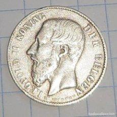 Monedas antiguas de Europa: BÉLGICA. 50 CENTIMES 1886. PLATA.. Lote 228324120