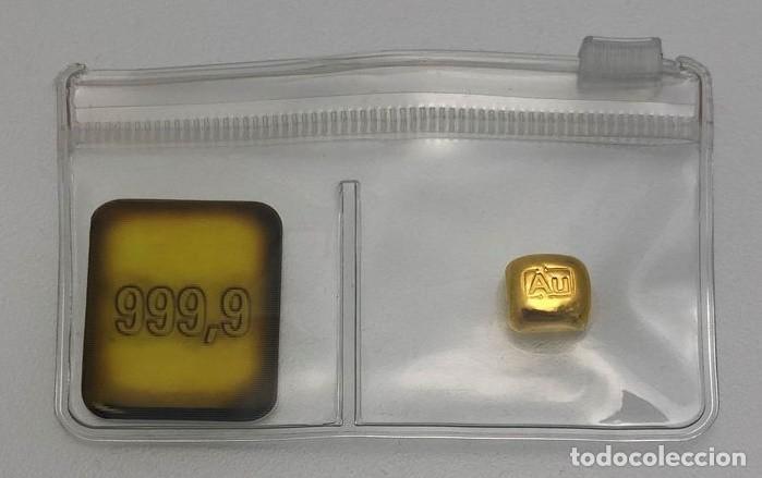 """Monedas antiguas de Europa: Lingote de oro 10g Lingote fundido """"Goldknuffel"""" Au - Foto 2 - 228797805"""