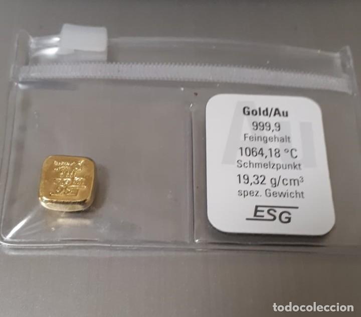 """LINGOTE DE ORO 10G LINGOTE FUNDIDO """"GOLDKNUFFEL"""" AU (Numismática - Extranjeras - Europa)"""