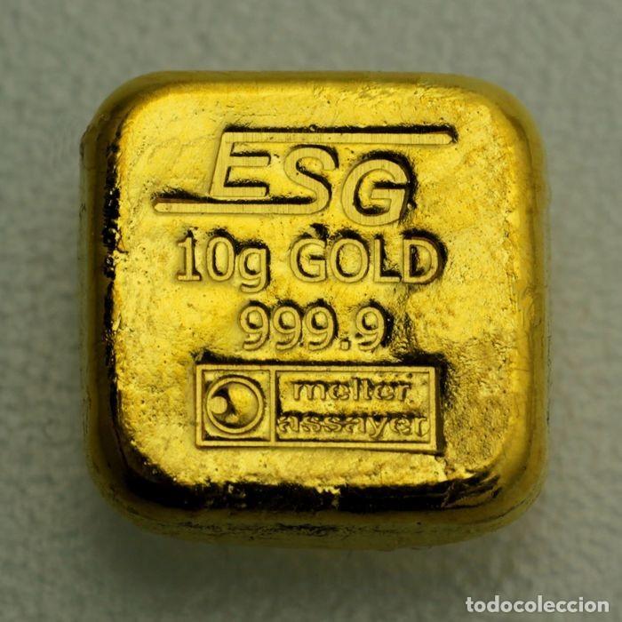 """Monedas antiguas de Europa: Lingote de oro 10g Lingote fundido """"Goldknuffel"""" Au - Foto 4 - 228802345"""