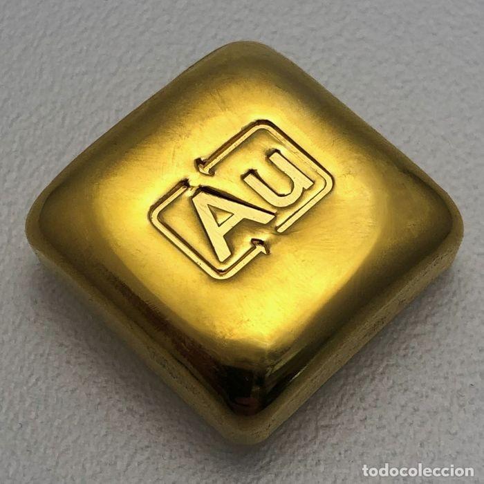 """Monedas antiguas de Europa: Lingote de oro 10g Lingote fundido """"Goldknuffel"""" Au - Foto 2 - 228802345"""