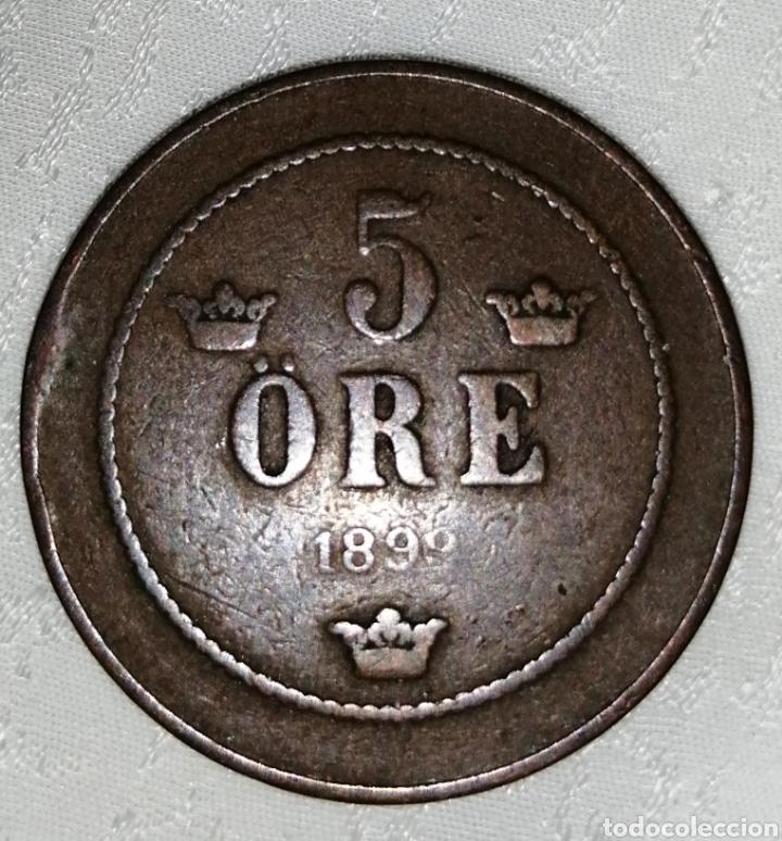 MONEDA SUECA 5 ORE 1899 (Numismática - Extranjeras - Europa)