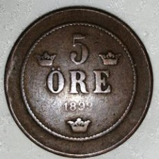 Monedas antiguas de Europa: MONEDA SUECA 5 ORE 1899. Lote 228823670