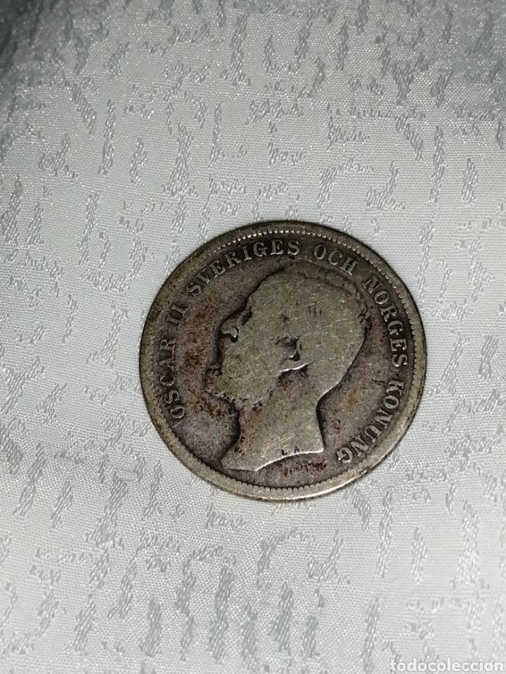 Monedas antiguas de Europa: MONEDA PLATA DE 1 KRONA 1897 - Foto 2 - 228832630