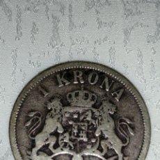Monedas antiguas de Europa: MONEDA PLATA DE 1 KRONA 1897. Lote 228832630
