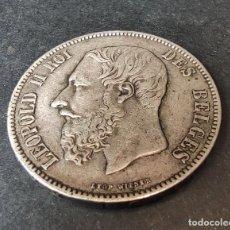 Monedas antiguas de Europa: BÉLGICA BELGIUM 5 FRANCS FRANCOS- 1873 PLATA. 25 GM !!!LIQUIDACION COLECCION¡¡¡¡¡¡. Lote 229867270