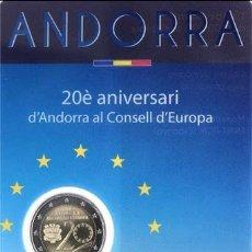 Monete antiche di Europa: ANDORRA 2014.- 2 € ''20 ANº ANDORRA EN EL CONSEJO D'EUROPA''./ EN BLISTER, NUEVO, SIN CIRCULAR.. Lote 230109465