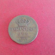 Monedas antiguas de Europa: 2 TORNESI ESTADOS SICILIANOS 1842. Lote 230671255