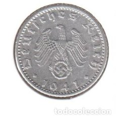 "Monedas antiguas de Europa: ALEMANIA - TERCER REICH 50 REICHSPFENNIG, 1941 CECA ""D"" - MÚNICH ALUMINIO. Lote 252852955"