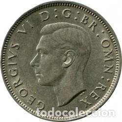 Monedas antiguas de Europa: DOS CHELINES DE PLATA, INGLATERRA, DEL REY JORGE VI, CON IND:IMP, 1942. - Foto 2 - 230829775