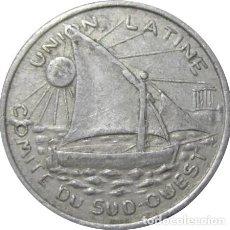 Monedas antiguas de Europa: FRANCIA. UNIÓN LATINA. COMITÉ DEL SUDOESTE. 25 CÉNTIMOS. 1922-1930. Lote 231397415