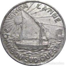 Monedas antiguas de Europa: FRANCIA. UNIÓN LATINA. COMITÉ DEL SUDOESTE. 10 CÉNTIMOS. 1922-1927. Lote 231400660