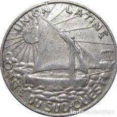 Monedas antiguas de Europa: FRANCIA. UNIÓN LATINA. COMITÉ DEL SUDOESTE. 5 CÉNTIMOS. 1922-1927. Lote 231402315