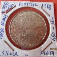 Monete antiche di Europa: 50 ESCUDOS 1968 PORTUGAL. PLATA 650 - 18 GRAMOS. PEDRO ALVARES (V CENTENARIO). Lote 232049015