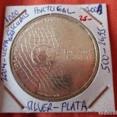 Monete antiche di Europa: 1000 ESCUDOS 2001 PORTUGAL. PLATA 500 - 26,,90 GRAMOS. 10º CAMPEONATO EUROPEO FUTBOL UEFA 2004. Lote 232055520