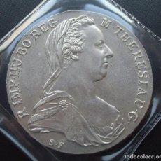 Monedas antiguas de Europa: AUSTRIA MARIA TERESA THALER TALERO 1780-X REACUÑACIONES OFICIALES EN PLATA.. Lote 232450815
