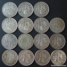 Monedas antiguas de Europa: GRAN BRETAÑA HALF CROW PLATA SILVER, LOTE DE 15 MONEDAS PESO TOTAL 212 GRAMOS.. Lote 232461970