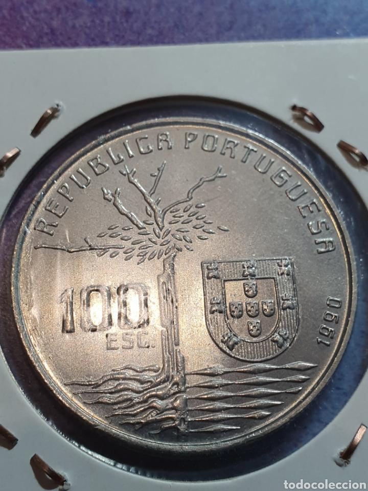 Monedas antiguas de Europa: Portugal 100 escudos 1990 - Foto 2 - 232988355