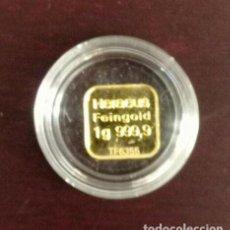 Monedas antiguas de Europa: LINGOTE ORO 1 GRAMO 999.9 HERAEUS SIN CIRCULAR EN CAPSULA PROTECTORA. Lote 233276585