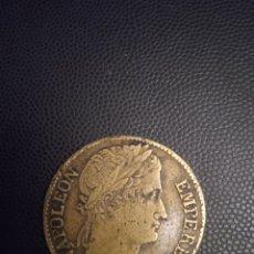 Monedas antiguas de Europa: MUY RARA Y ANTIGUA MONEDA DE METAL FALSA DE LA ÉPOCA NAPOLEÓN 1811 5 FRANCOS EMPIRE FRANCAIS. Lote 233357140