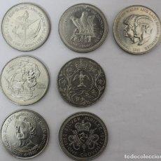 Monedas antiguas de Europa: COLECCIÓN DE 7 MONEDAS INGLESAS REINA ISABEL ELIZABETH II POSIBLEMENTE PLATA. Lote 233503445