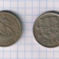 Monnaies anciennes de Europe: MONEDA PORTUGAL 2.50 ESCUDOS 1963-1985 (1973) -USADA KM# 590. Lote 233504575