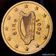 Monnaies anciennes de France: AB069. BAÑO ORO 24KT. EIRE. 2 CÉNTIMOS 2005. Lote 233703575