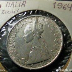 Monedas antiguas de Europa: MONEDA. ITALIA 500 LIRAS 1964.S/C PLATA 11G. 0,835 .LIQUIDACION COLECION!!!!!. Lote 233931130