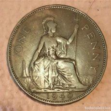 Monedas antiguas de Europa: GRAN BRETAÑA. 1 PENIQUE 1940. II GM. REY JORGE VI. Lote 233980100