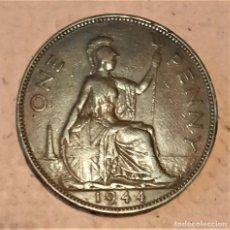 Monedas antiguas de Europa: GRAN BRETAÑA. 1 PENIQUE 1944. II GM. JORGE VI. DETALLADA. Lote 233984850