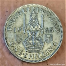 Monedas antiguas de Europa: GRAN BRETAÑA. 1/2 MEDIA CORONA 1944. II GM. JORGE VI. DETALLADA. PRECIOSO PLATEADO. Lote 233985540