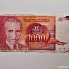 Monnaies anciennes de France: YUGOSLAVIA 1000 DINARA 1992. Lote 234038740