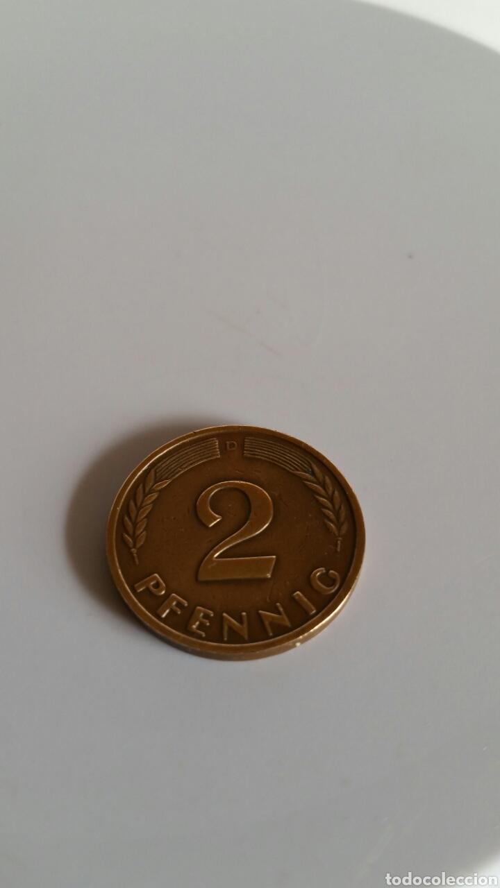 Monedas antiguas de Europa: MONEDA DE DOS PFENNIG DE ALEMANIA -...............1962-D. - Foto 2 - 234453955