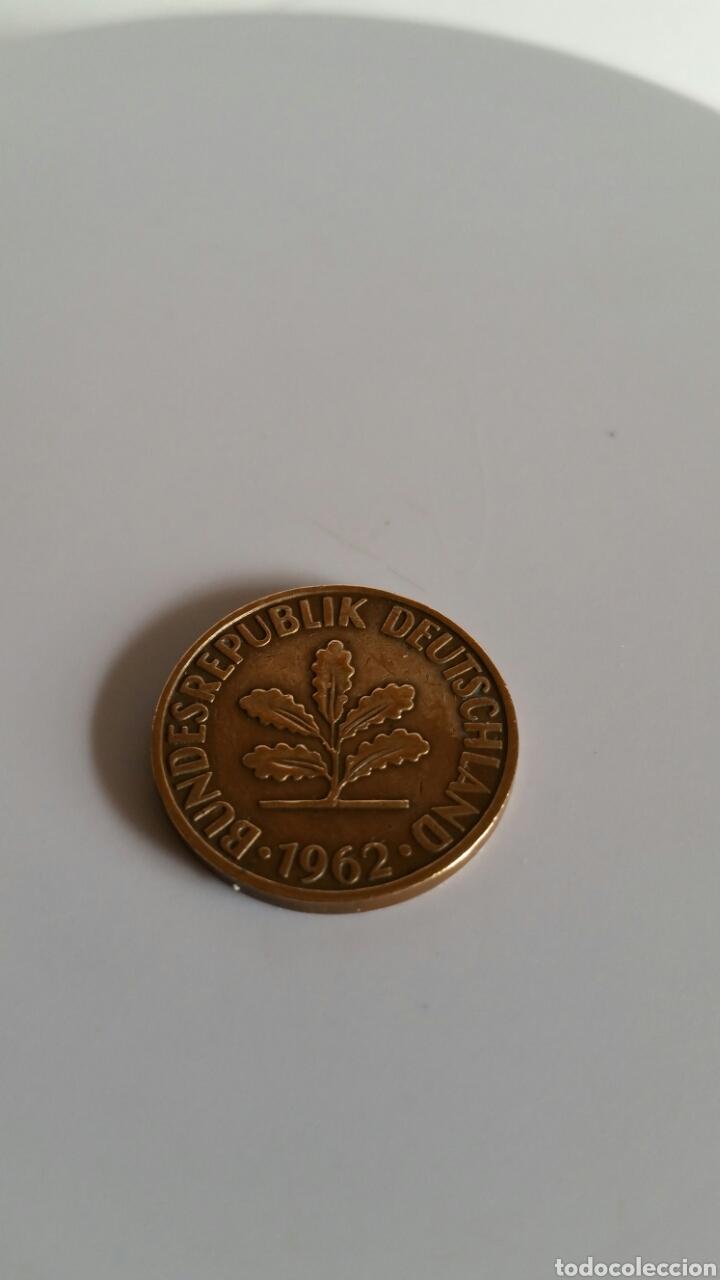 MONEDA DE DOS PFENNIG DE ALEMANIA -...............1962-D. (Numismática - Extranjeras - Europa)