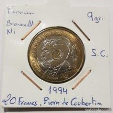 Monedas antiguas de Europa: FRANCIA, 20 FRANCS, DE 1994. ORIGINAL. Lote 234619130