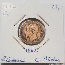 Monedas antiguas de Europa: ITALIA, 2 CENTESIMI, DE 1862. ORIGINAL. Lote 234639425