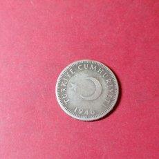 Monedas antiguas de Europa: 50 KURUS DE TURQUÍA 1948. PLATA. Lote 234728770