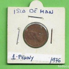 Monedas antiguas de Europa: ISLA DE MAN. 1 PENNY 1976.BRONCE KM#33. Lote 234892210