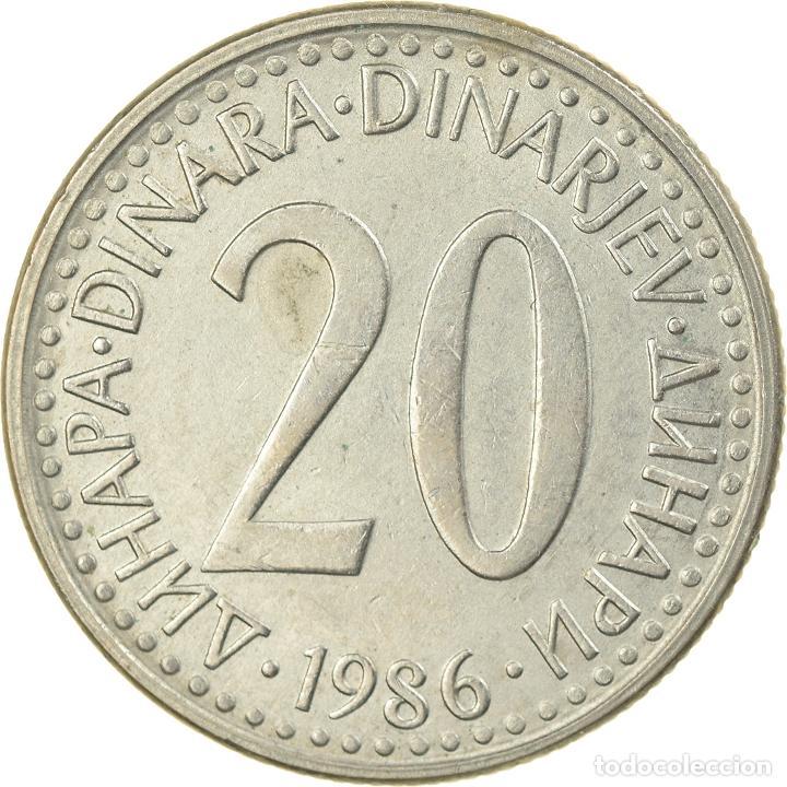 Monedas antiguas de Europa: Moneda, Yugoslavia, 20 Dinara, 1986, EBC, Cobre - níquel - cinc, KM:112 - Foto 2 - 234895830