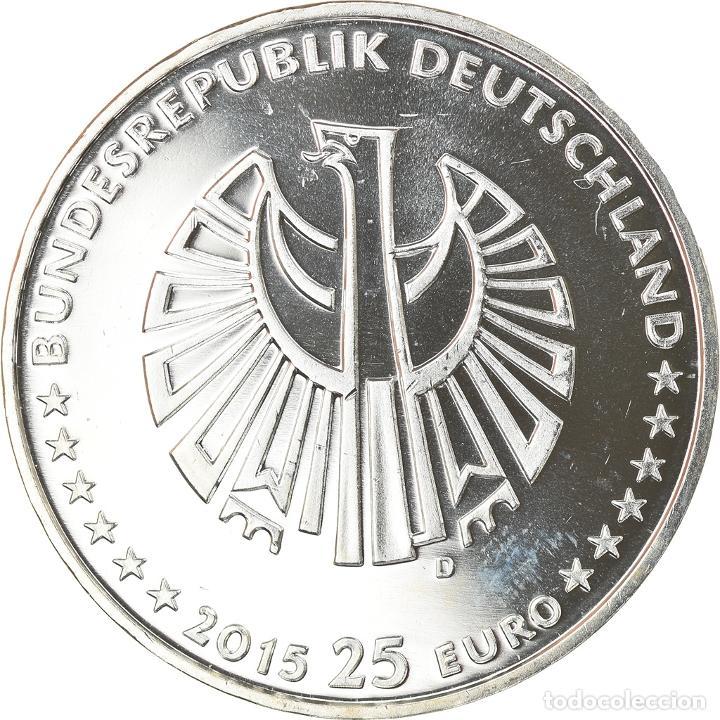 Monedas antiguas de Europa: Alemania, 25 Euro, 25 years of German Reunification, 2015, Munich, FDC, Plata - Foto 2 - 234897635