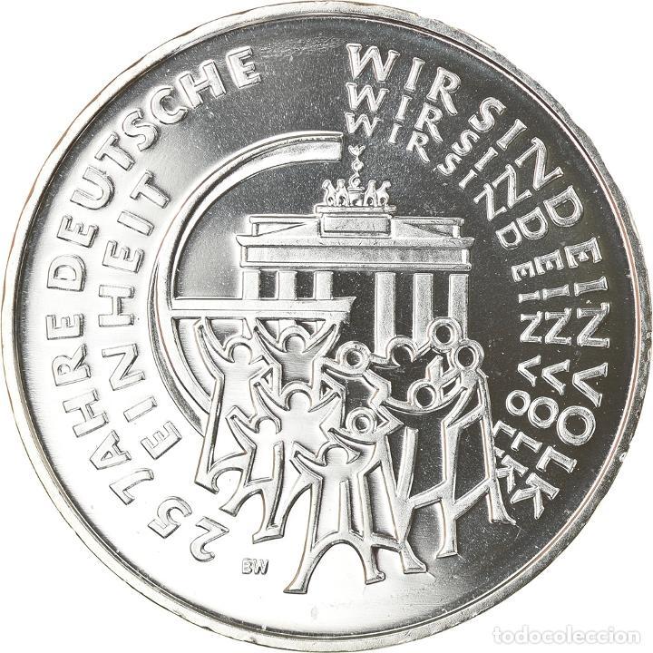 ALEMANIA, 25 EURO, 25 YEARS OF GERMAN REUNIFICATION, 2015, MUNICH, FDC, PLATA (Numismática - Extranjeras - Europa)