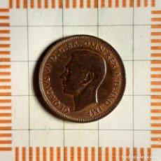 Monnaies anciennes de France: 1/2 PENIQUE, GRAN BRETAÑA. JORGE VI, 1945. (KM#844). Lote 235173505