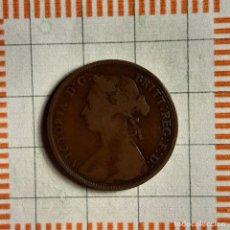 Monnaies anciennes de France: 1/2 PENIQUE, GRAN BRETAÑA. VICTORIA, 1876 H. (KM#754). Lote 235183675