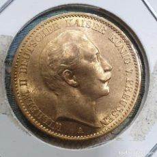 Monete antiche di Europa: ORO PRUSIA 20 MARCOS 1912 A ORO 7,965 GRAM. KM 521. Lote 235552370