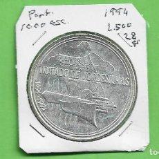 Monedas antiguas de Europa: PLATA-PORTUGAL. 1000 ESCUDOS 1994. TRATADO TORDESILLAS. 28 GRAMOS DE LEY 0,500. Lote 235655145