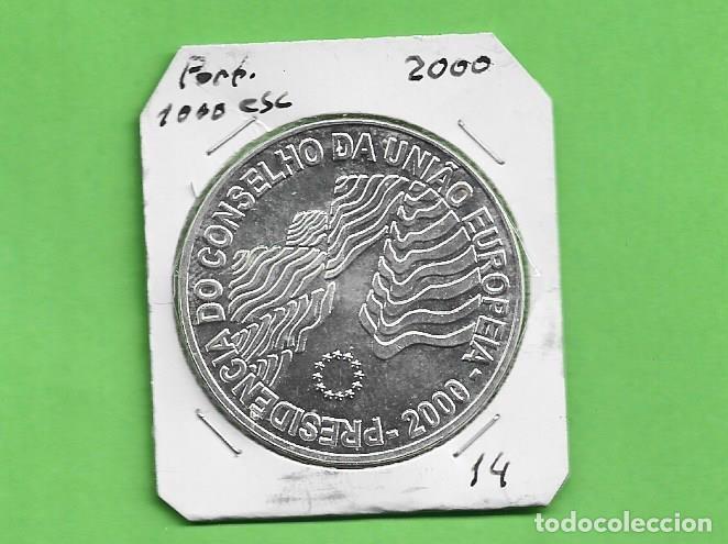 PLATA-PORTUGAL. 1000 ESCUDOS 2000. PRESIDENCIA CONS.EUROPA 28 GRAMOS DE LEY 0,500 (Numismática - Extranjeras - Europa)